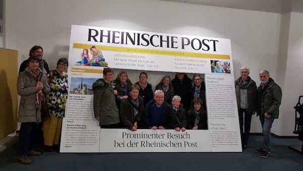 Besuch bei der Rheinischen Post in Heerdt