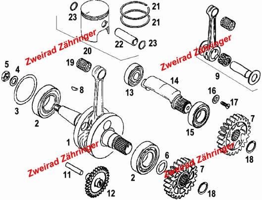 Zylinder / Vergaser