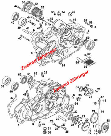 Motor Aprilia Rotax 650