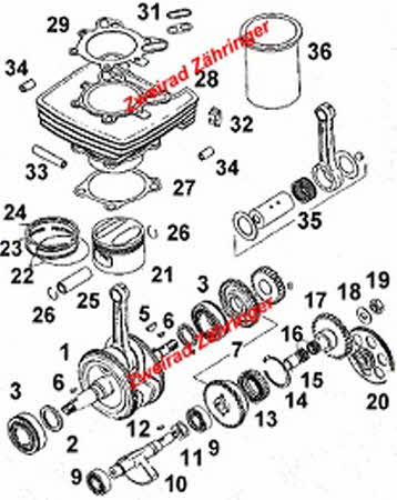 Motor Aprilia Rotax 350-600