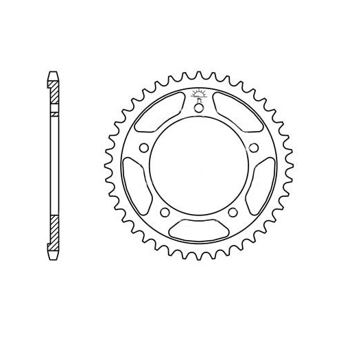 Kettenrad hinten 42 Zähne Teil. 525 für Triumph Bonneville