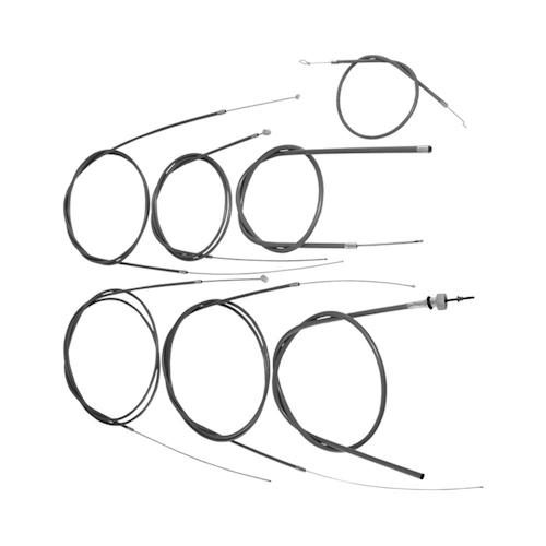 Bowdenzug-Set inkl. Bremszug vorne/hinten für Vespa P80X