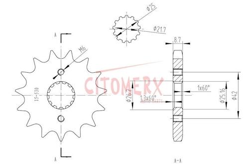 Kettenkit X-Ring verst. für Suzuki GSF 600 Bandit 95-99