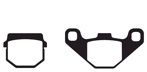 Bremsbeläge, EBC Typ SFA083/2 Standard für Piaggio NRG mc3