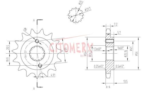 Kettensatz X-Ring 16 47 für Honda XL600V Transalp (PD10