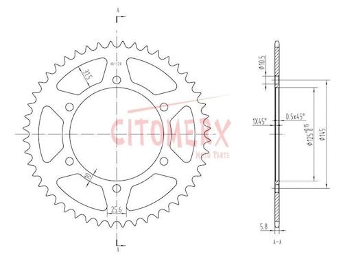 Kettensatz 16 48 für Yamaha XJ 600 S Diversion 4BR RJ01