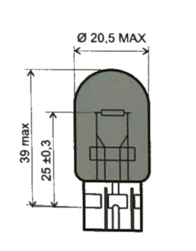 Glühbirne, Glühlampe T20 12V 21W für Honda CBR 900 RR