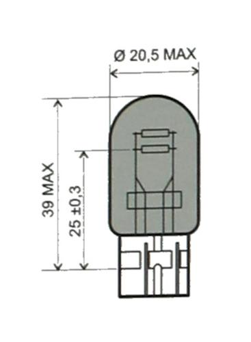 Glühbirne, Glühlampe T20 12V 21/5W für Honda VFR 800 FI