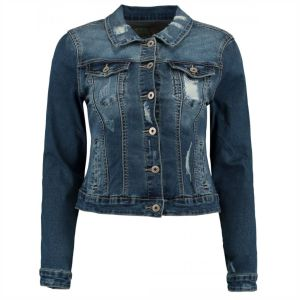 Hailys Damen Jeansjacke Enna Destroyed Used Look Blue Art. QI-1809008