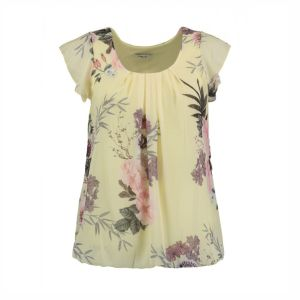 HAILYS Damen Bluse Top NELLIE yellow Flügelärmel Blumen Art.Nr. DF-3018-18