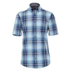 Freizeit Hemd von CasaModa karriert blau baumwolle front