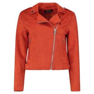 Damen Jacke Blouson im Bikerstyle von Hailys Modell Vera Art. NX-1906038 Farbe burnt orange online kaufen bei Zweisam Mode Schonach Frontalansicht