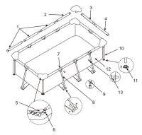 Intex Klein rechthoekig zwembad | onderdelen ...