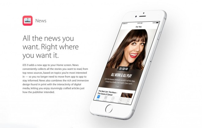 Apple News App, iOS 9