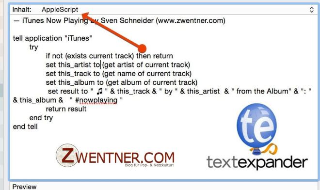TextExpander Now Playing Script Cover