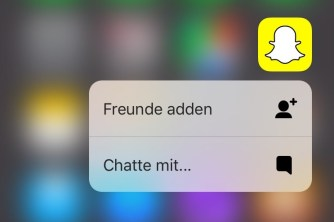 Snapchat 3D Touch