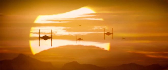 tie fighter sunset