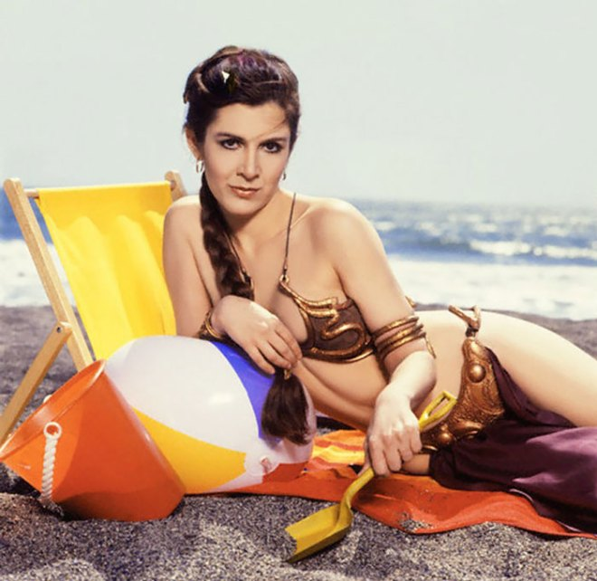 princess-leia-bikini-return-jedi-beach-shoot-1983-carrie-fisher-5