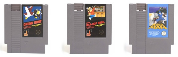 NES Cartridge Flachmänner