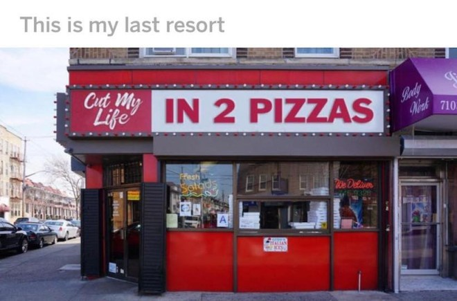 Cut my Life in 2 Pizzas