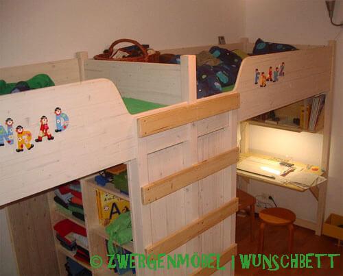 Wunschbett Kinderbett Doppelhochbett