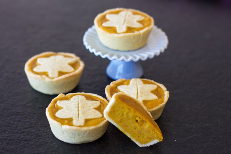 Herbstliche Kürbis Tartelettes