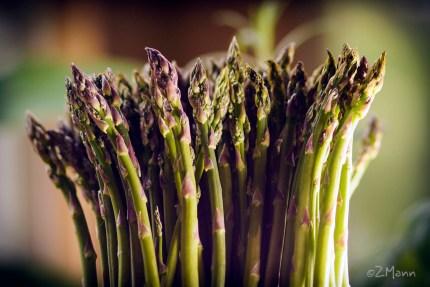 z widokiemna stół | szparagi zielone, ulubione