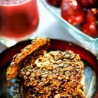 kokosowe crisps, śniadaniowe ciasteczka bez mąki ................