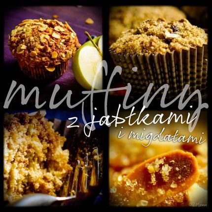 z widokiemna stół | muffiny z jabłkami i migdałami