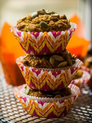 z widokiem na stół | aksamitne muffiny dyniowe