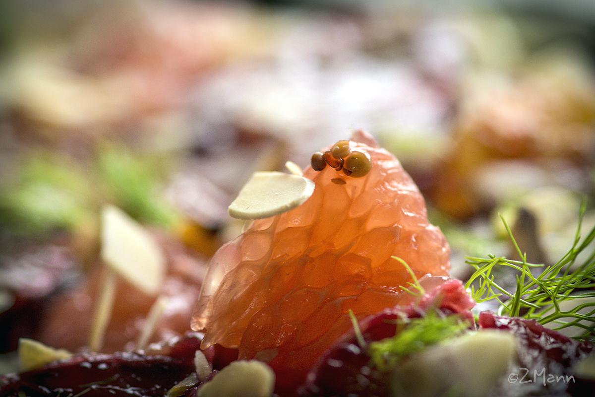 z widokiem na stół | sałatka cytrusowa