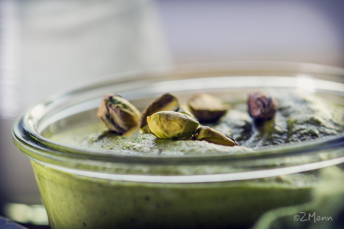 z widokiem na stół | krem pistacjowy