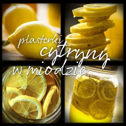 z widokiem na stół | plasterki cytryny w miodzie
