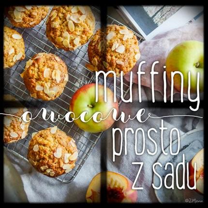 z widokiem na stół   muffiny prosto z sadu . baaardzo owocowe