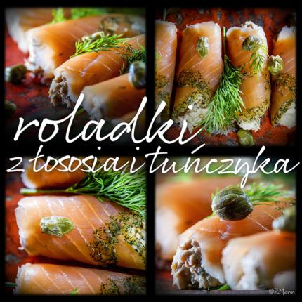 z widokiem na stół | roladki z łososia i tuńczyka