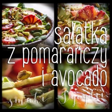 z widokiem na stół | sałatka z pomarańczy i avocado