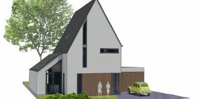 Moderne villa kavel vleuten architect