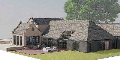 aanbouw verbouw boerderij stal architekt amsterdam