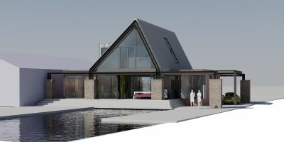 moderne architect wijdemeren watervilla kavel
