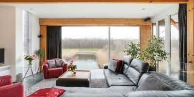 kavel architect moderne woning villa hout