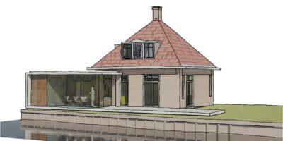 moderne aanbouw oude woning vecht architect verbouw