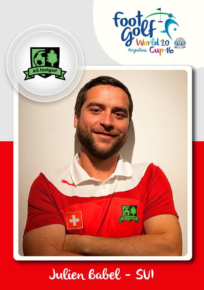 Julien Babel, Präsident von Swiss Footgolf.