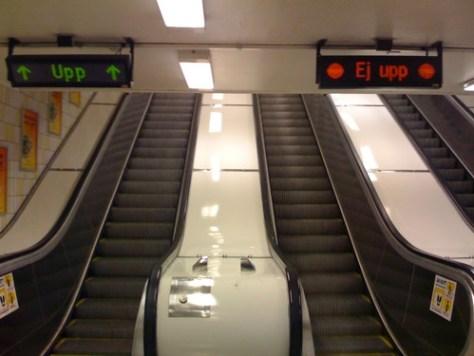 """Ej Upp"" sign, Stockholm underground"