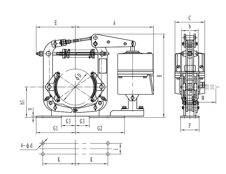 YWZ8 Series Electro-hydraulic Drum Brakes Manufacturers