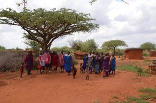 Wioska masajska taniec Kenia