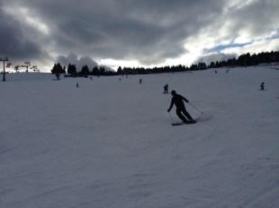 Zieleniec krawędziowanie na nartach