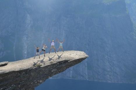 Ekipa na Trolltunga Norwegia