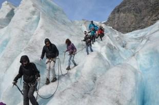 Trekking po lodowcu Norwegia