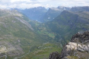 Widok z Dalsnibba Norwegia