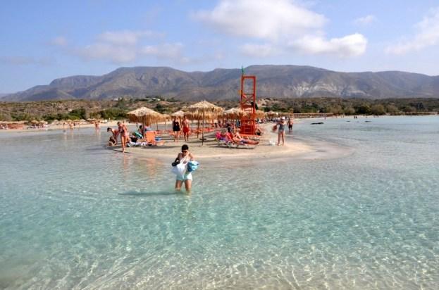 Dojście na plażę Elafonisi Kreta
